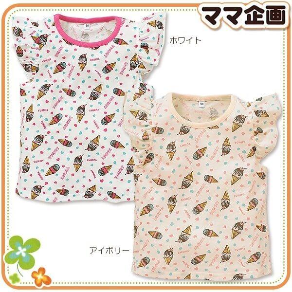 アイスクリーム柄フレンチTシャツ,西松屋,子供服,