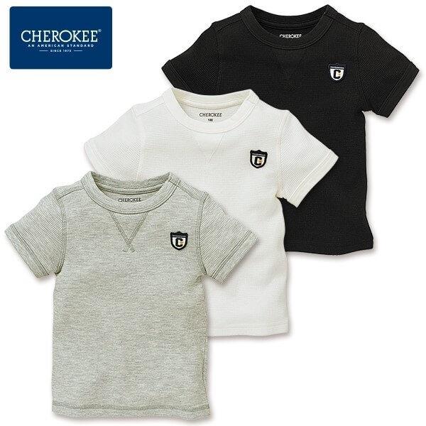 ワッフルワンポイント半袖Tシャツ,西松屋,子供服,