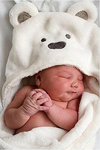 Cocco (コッコ) クマさん おくるみ 赤ちゃん ベビー タオルケット バスローブ 出産祝い (ホワイト),出産祝い,タオルケット,