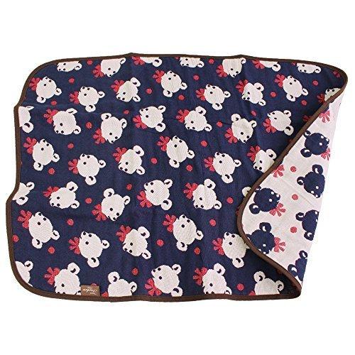 hiorie(ヒオリエ) ガーゼケット 5重ガーゼ ベビーケット ミニケットサイズ 日本製 ケット 白熊,出産祝い,タオルケット,
