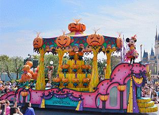 ディズニーハロウィンパレード,ディズニー,ハロウィン,子ども