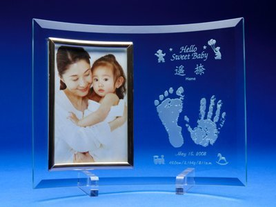 手形足形フォトフレーム L 【誕生・出産祝】 【名入彫刻】,内祝い,名前入り,