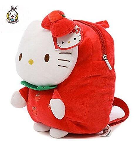 Hollwaldぬいぐるみ 可愛い リュックとしても使えます Hello Kittyとイチゴ 赤,出産祝い,ぬいぐるみ,