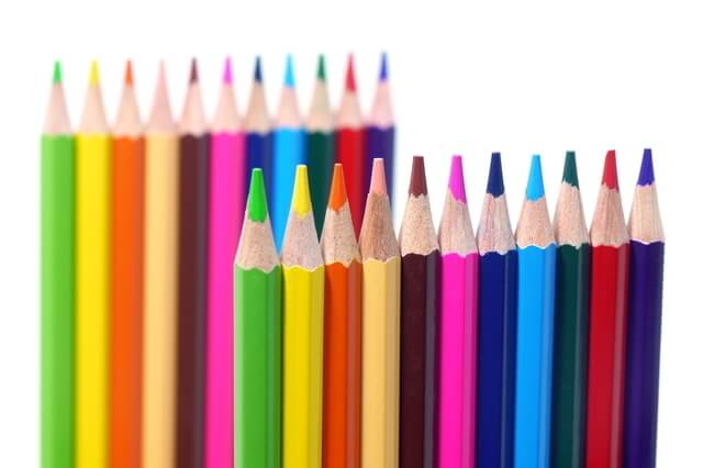 色彩感覚,子供,塗り絵,