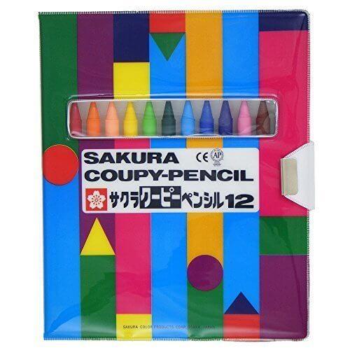 サクラクレパス クーピーペンシル 12色 FY12-R1 ソフトケース入,子供,塗り絵,