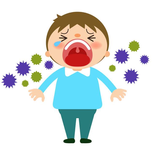 男の子とウィルス,RSウイルス,感染症,