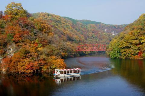 帝釈峡の紅葉,広島,紅葉,