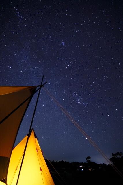 キャンプで見る星空,自由研究,星座,