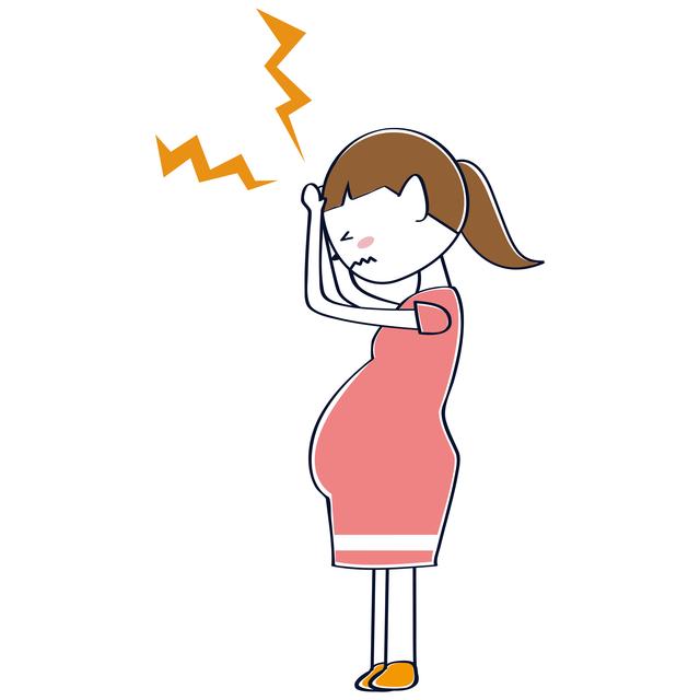 頭痛を訴える妊婦,妊娠中,頭痛,
