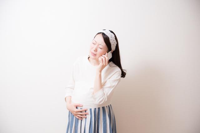 妊婦電話,出産,陣痛,