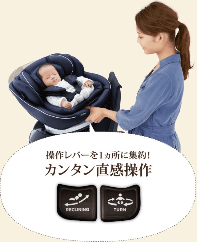 クルムーヴ 指1本360度ターン,チャイルドシート,新生児,おすすめ