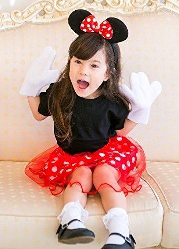 Masha Selection(マーシャセレクション) ミニーちゃん 風チュチュ キッズコスチューム 女の子,ハロウィン,ディズニー,