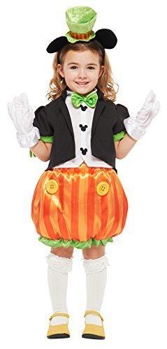 ディズニー パンプキンミッキー キッズコスチューム 女の子 対応身長80-100cm 95842T,ハロウィン,ディズニー,