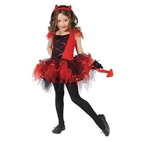 (タリンダ)Talinda ハロウィン 衣装 子供 女の子 ドレス コスプレ 猫 衣装 小悪魔 衣装 仮装 魔女ドレス キッズ コスプレ 子ども ワンピース 角カチューシャ 手袋 3点 セット レッド XL,ハロウィン,衣装,子供