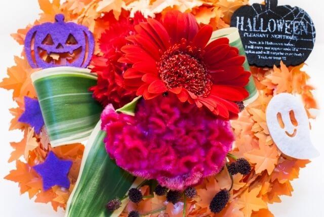 ハロウィンリース おばけ かぼちゃ 飾り,ハロウィン,リース,