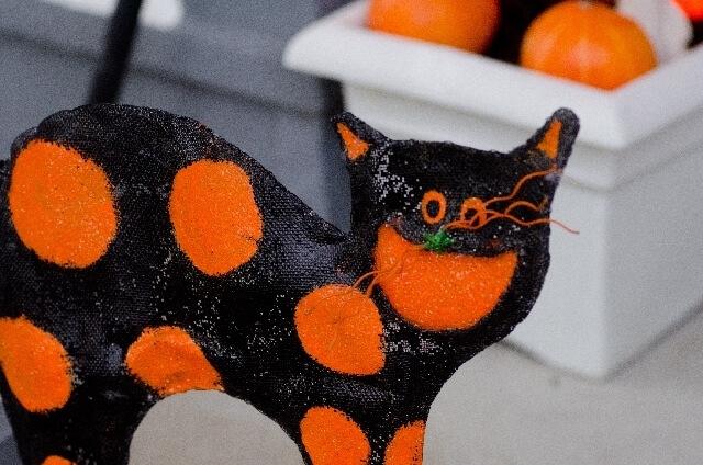 黒猫 ハロウィン 飾り,ハロウィン,リース,