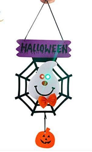 p-smile (ピースマイル) ハロウイン ドア飾り クモの巣 装飾品 小道具 店舗 ディスプレイ ハロウィン HALLOWEEN パーティー (白 蜘蛛の巣ゴースト),ハロウィン,リース,