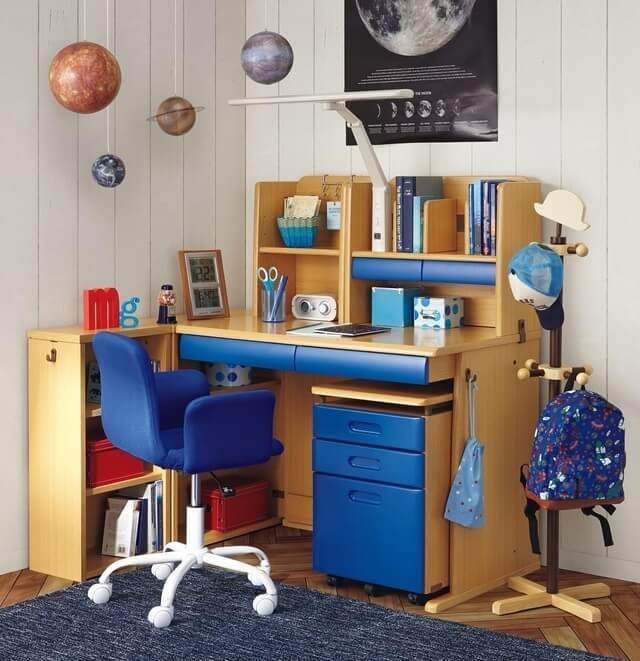 男の子の学習机,ニトリ,子ども部屋,