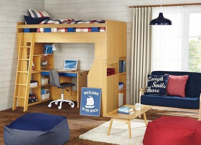 男の子のロフトベッド,ニトリ,子ども部屋,