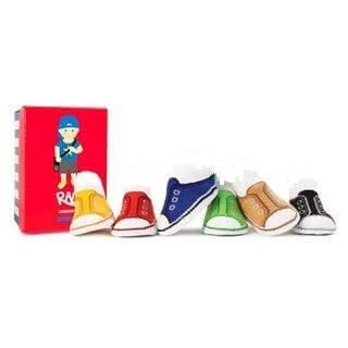 トランペット 【ラッド ジョニー】 ベビー ソックス 6ペアパック / スニーカー柄 / 6色 / 滑り止め付き / ボックス入り / ギフト,出産祝い,靴下,