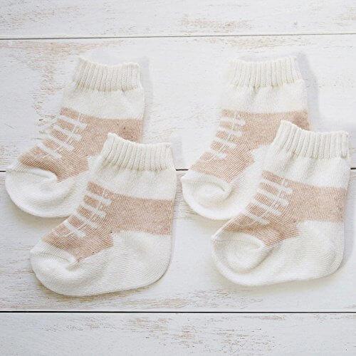 2足組 日本製 オーガニックコットン ベビーソックス スニーカー柄 新生児用 8センチ ベビー用靴下,出産祝い,靴下,