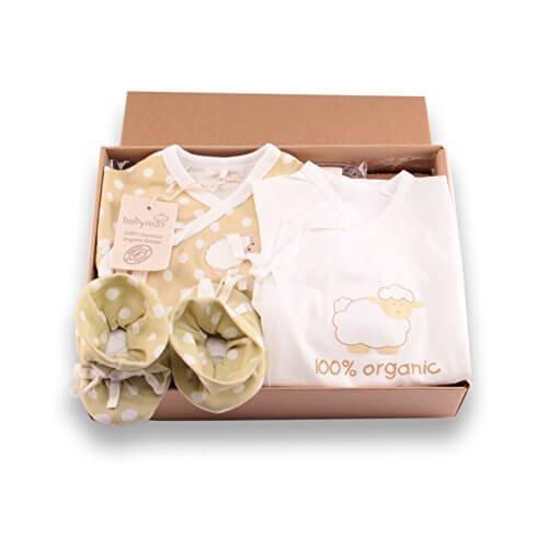 【TYGJ】オーガニックコットン ベビー服 新生児 豪華 肌着セット コンビ肌着 (ロンパースセット2枚& 赤ちゃんの靴 1足) 子供服 有機栽培綿100% 出産祝い ギフトセット,出産祝い,ロンパース,