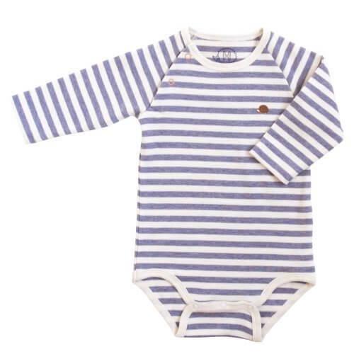 ホッペッタ プラス Hoppetta plus オーガニックコットンボディ長袖 70cm 杢パープル×キナリ 51353,出産祝い,ロンパース,