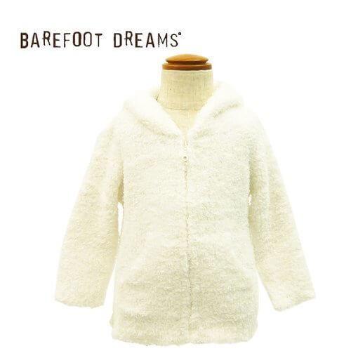 BAREFOOT DREAMS【ベアフットドリームス】 ベビーパーカー infant hooded jacket (並行輸入品) (White),ベビー,アウター,