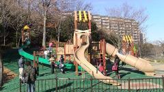 稲城中央公園の野球場複合遊具,アスレチック,公園,