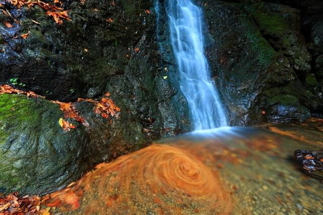 七代の滝と紅葉,関東,紅葉,