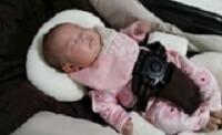 ネムリラですやすや眠る赤ちゃん,コンビ,ネムリラ,