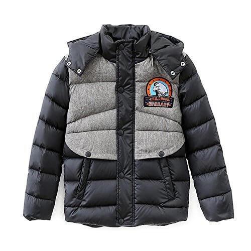be684250ce8af (ハイハート)Hiheart 子供 ダウンジャケット 男の子 コート アウトドア 子供服 ブラック 120cm