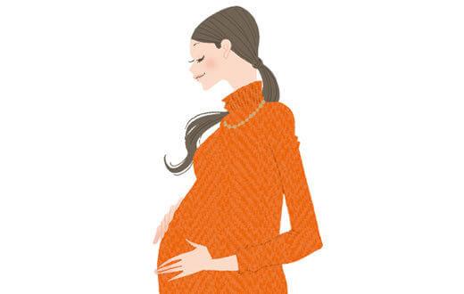 イラスト,妊娠,線,
