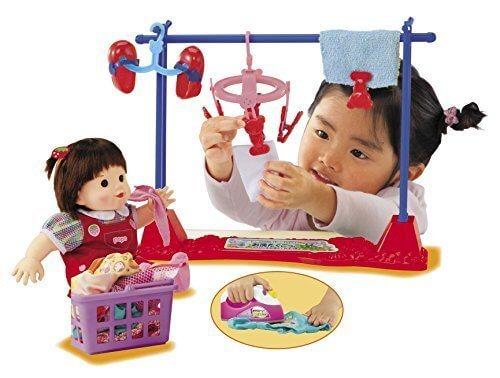 ぽぽちゃん お道具 ぽぽちゃん・ちいぽぽちゃんの お洗たくごっこPlus アイロン&お洗たくカゴつき,ごっこ遊び,おもちゃ,