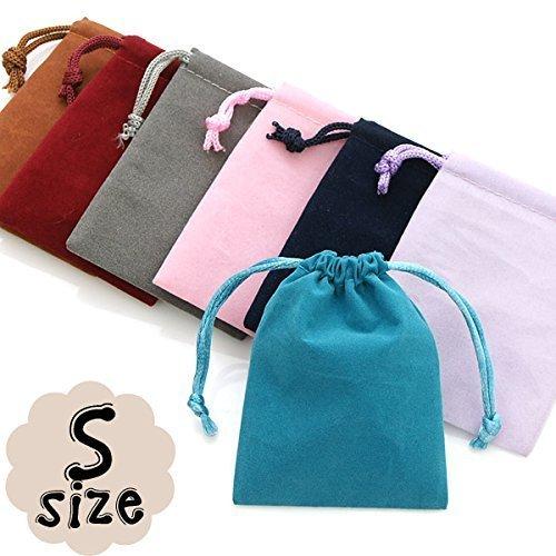選べる8種類ポーチ|アクセサリーや小物入れに |小サイズ 8色 高級感たっぷりのベロア巾着袋|1枚売り| 10P20Sep14 S.Green,手作り,お守り,