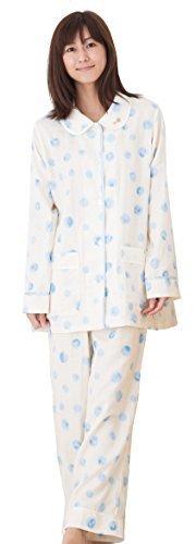 ツモリチサト パジャマ 二重ガーゼpt水彩ドット UDQ11192 (M, イエロー),前開きパジャマ,