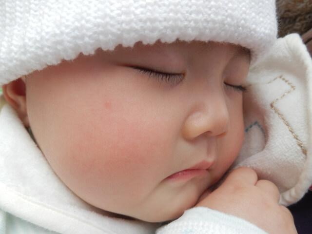 寝ている赤ちゃん,ベビー,ニット帽,