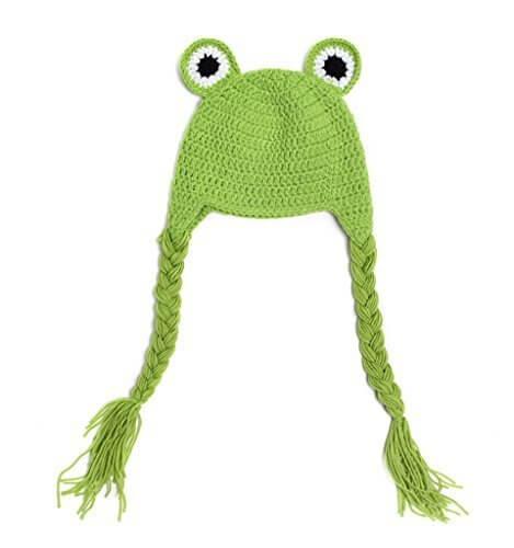 (ビグッド)Bigood ベビーニット帽 ニットキャップ きぐるみ ベビー キッズ 耳あて 帽子 ベビー用品 暖かい帽子 出産祝い秋冬 カエル,ベビー,ニット帽,