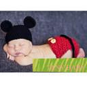 【02P11Apr15】かわいいベビーニット帽 コスプレ(着ぐるみ)☆ミッキー☆ブルマ付き出産祝い お食い初めの記念撮影や寝相アートに☆,ベビー,ニット帽,