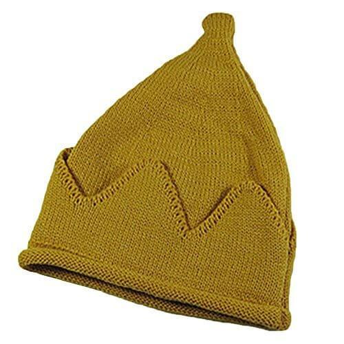MyMei かわいい とんがり ニット帽 キッズ こども 男女兼用 こども帽子 キャップ  シンプル 無地 ファッション スタイリッシュ おしゃれ 暖かい 柔らか 秋 冬 防寒 クリスマス 誕生日プレゼント  (イエロー),ベビー,ニット帽,