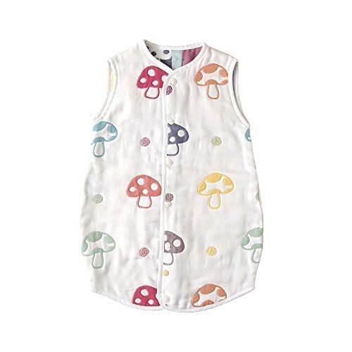 【Amazon.co.jp限定】 ホッペッタ Hoppetta champignon 6重ガーゼスリーパー ドレス式/カバーオール式2way ベビーサイズ 5463,赤ちゃん,ガーゼ,