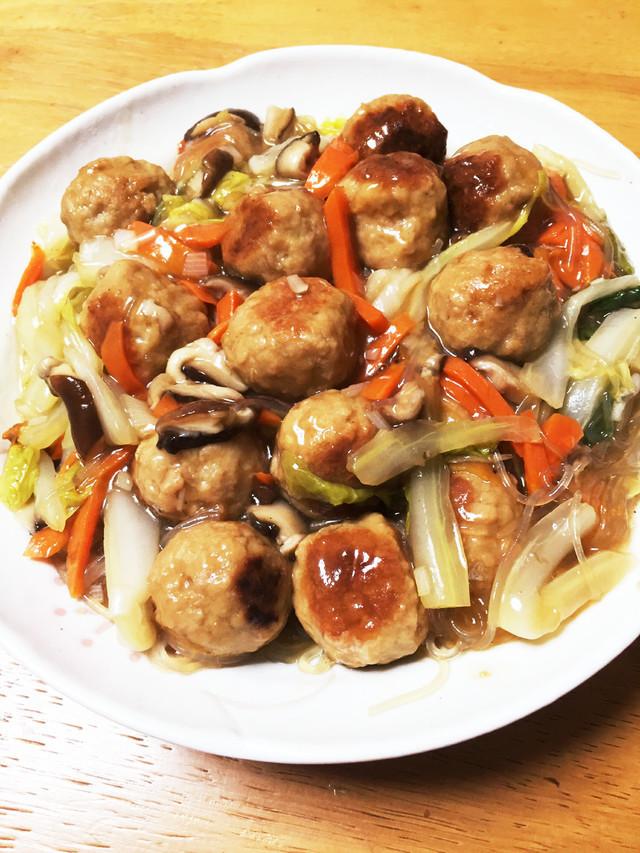 白菜と肉だんごの中華風うま煮,お弁当,冷凍食品,