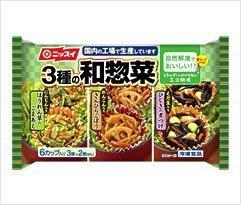 【箱売】【吉】3種の和惣菜 3種×2個(90g/袋)×12袋【ニッスイ】【レンジ調理可】【自然解凍】,お弁当,冷凍食品,