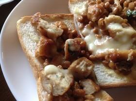 冷凍食品で簡単に!つくねと納豆のトースト,お弁当,冷凍食品,