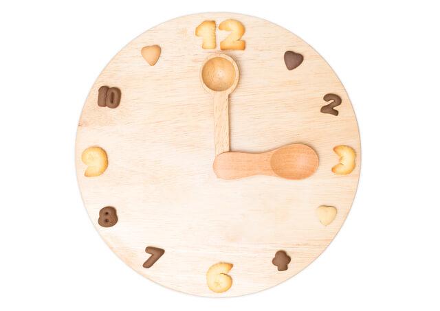3時をさす時計,子供,おやつ,