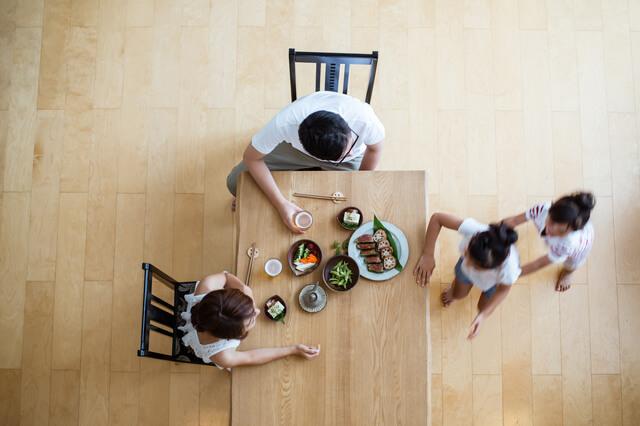 家族の食事,食事マナー,