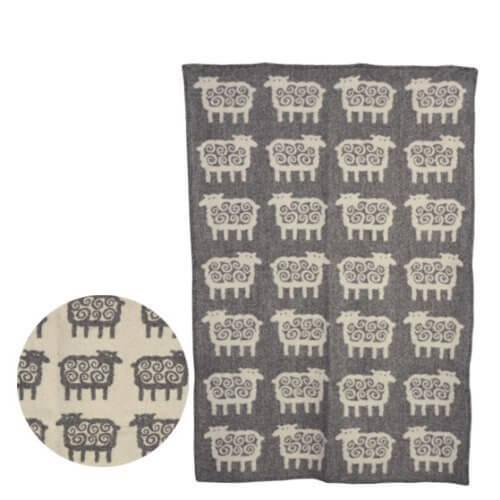 [クリッパン] KLIPPAN ウールブランケット 90x130 Sheep グレー [並行輸入品],出産祝い,ブランケット,