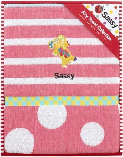 Sassy コットンブランケット ピンク 【新柄】 (名入れ刺繍あり),出産祝い,ブランケット,