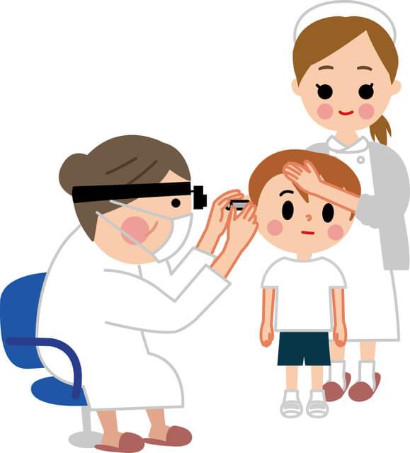 耳鼻科診察,急性中耳炎,子供,