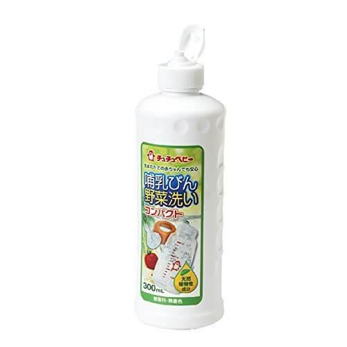 チュチュベビー 哺乳びん野菜洗い コンパクト 300ml,哺乳瓶洗剤,